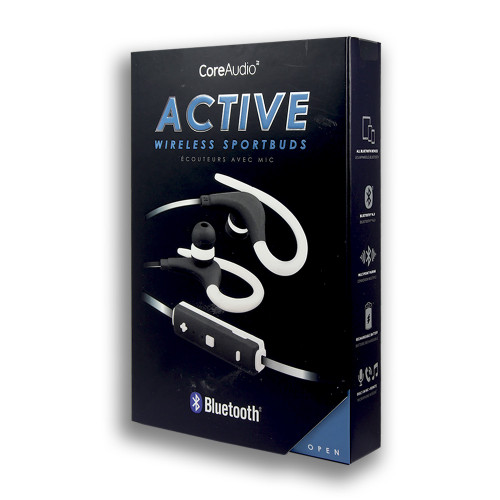 CoreAudio Active in Ear Bluetooth Sportbuds White