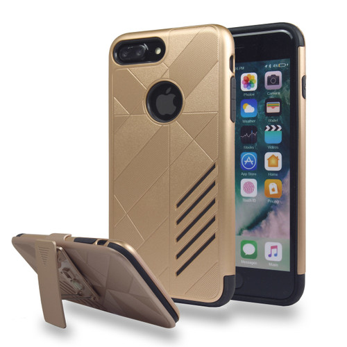 Avant Guard Case with Holster Combo for iPhone 7/8 Plus - Gold-Black