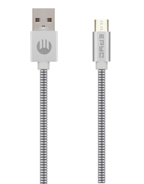 Epyc metal series usb to micro usb Silver