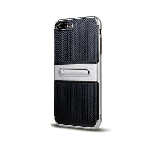 Traveler Hybrid Case with Kickstand for J7 2017 Silver