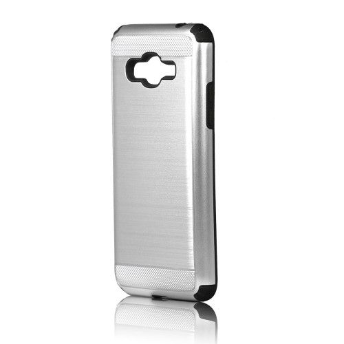Brush case for iPhone 10 silver