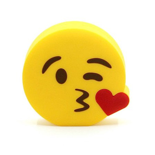 Emoji power bank kiss