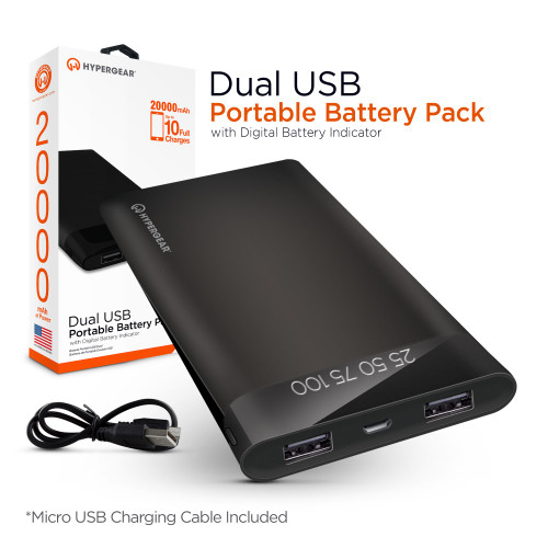 Hypergear portable battery pack 20000 mAh