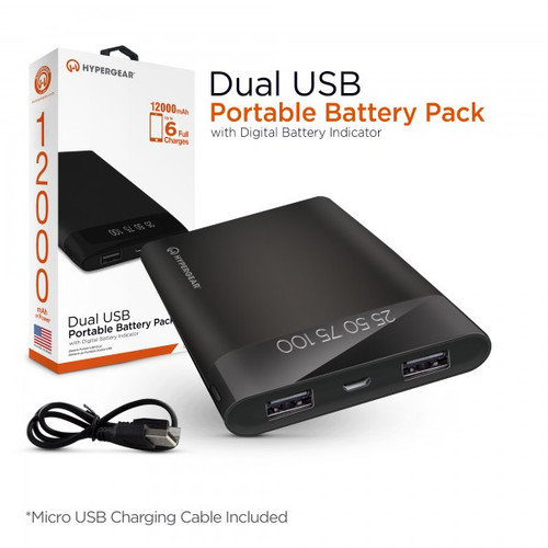 Hypergear portable battery pack 12000 mAh