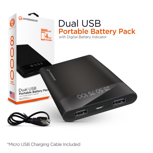 Hypergear portable battery pack 8000 mAh