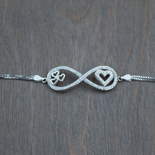 any name v dp personalise infinity bracelet with pendant friendship symbol