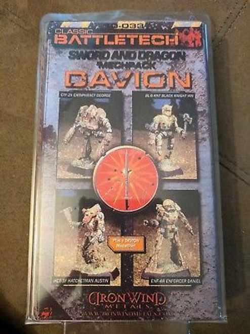 Sword and Dragon Mech Pack I Davion NISB IMW 10-033