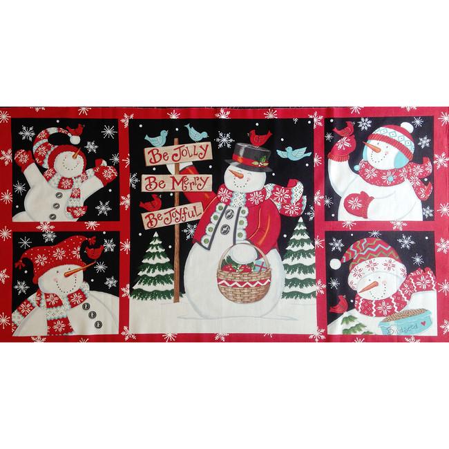 Snowman Fabric Panel