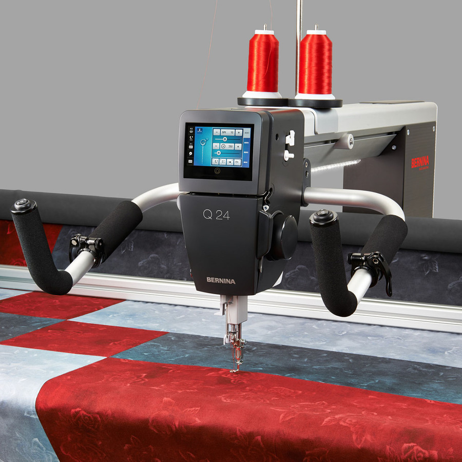 Bernina Q24 Professional Long Arm Quilting Machine on the Frame ...