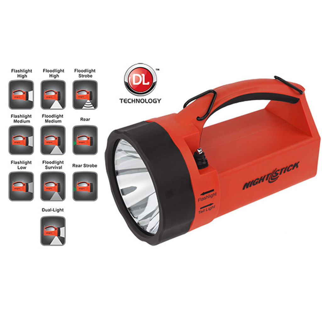 Bayco #XPR-5580R LED Rechargeable Intrinsically Safe Dual Hand Held Lightbox Lantern - Red