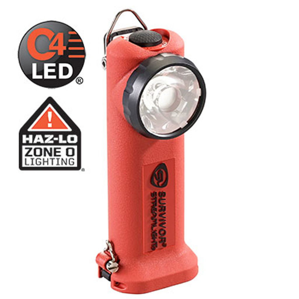 Streamlight #90509 Survivor LED Light with 12V DC Fast Charger - Orange