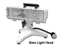 Akron PB-Series Portable Light Base with AC Plug & LightHead Housing Arm (LightHead Not Included)