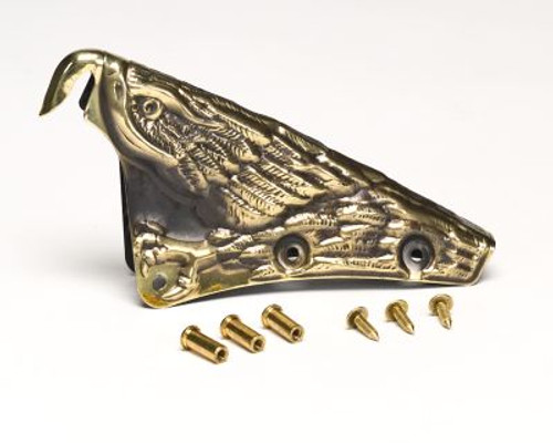 "Cairns #M8P Brass 3D Carved Eagle 6"" Front Holder"