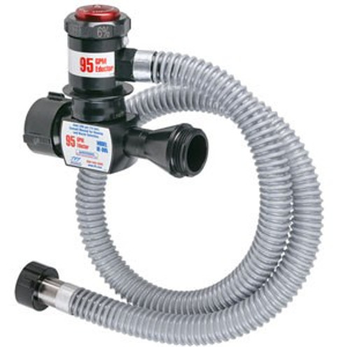"""TFT Legacy 1.5"""" x 125 GPM In Line Foam Eductor with 1.5"""" Outlet and 51"""" Pickup Hose Tube"""