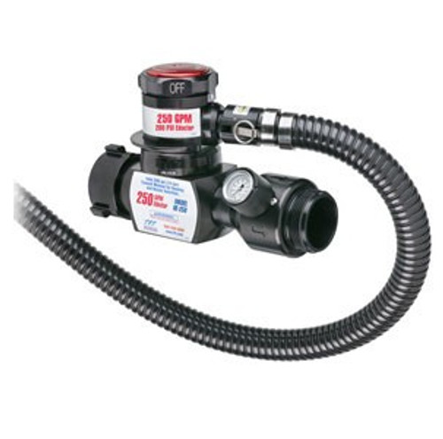 """TFT Legacy 2.5"""" x 250 GPM In Line Foam Eductor with 2.5"""" Outlet and 96"""" Pickup Hose Tube"""