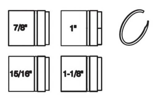"""TFT Legacy Smooth Bore Insert Kit - (4) Inserts 7/8"""", 15/16"""", 1"""" & 1-1/8"""""""