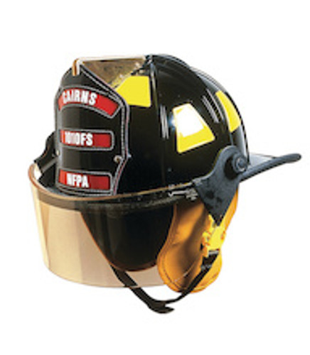 Cairns #1010FS Traditional Fiberglass Composite Fire Helmet with Faceshield