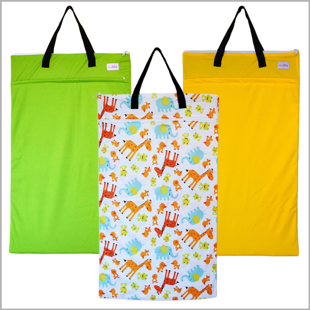 Large Wet Bag for Cloth Diapers and Laundry Storage