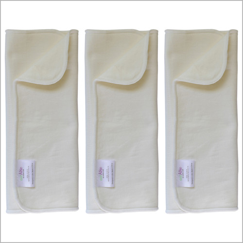 Bamboo Cotton Prefold Inserts for Baby Cloth Diaper Covers