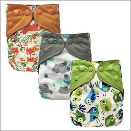 All-in-one Cloth Diaper with Extra Insert, Snaps