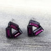 Swarovski Open Triangle Earrings in Gunmetal