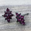 Swarovski Diamond Shape Earrings in Gunmetal