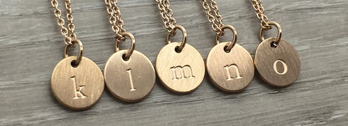 Lowercase Necklace from k to o in Rose Gold