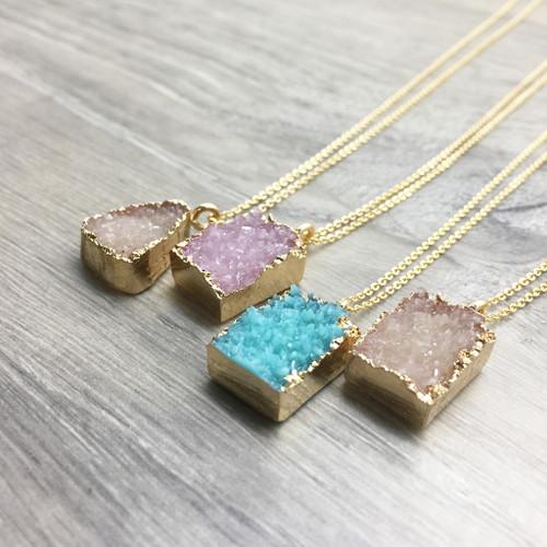 Resin Druzy Necklaces