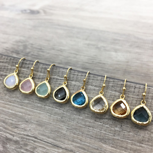 Classic Faceted Teardrop Earring in Gold