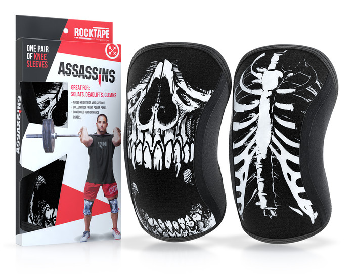 Assassins Knee Sleeves - Skull