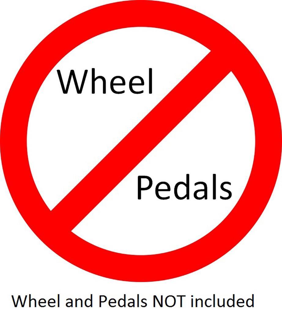 Wheel Stand Pro Warthog:  Stand for HOTAS WARTHOG & Saitek pedals. V2