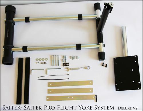 X REFURBISHED Saitek: Stand for Saitek Pro Flight Yoke System - Deluxe V2.  Wheel and Pedals not included.