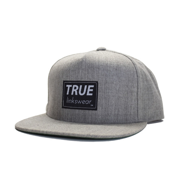 TRUE Premium Wool Snapback - Heather Grey/Black Icon