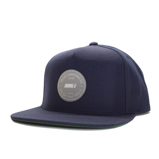 TRUE Premium Wool Snapback - Navy/Silver Icon
