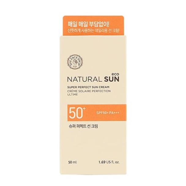 (THE FACE SHOP) NATURAL SUN ECO SUPER PERFECT SUN CREAM SPF50+ PA+++