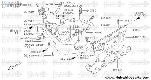 14051A - bolt - BNR32 Nissan Skyline GT-R