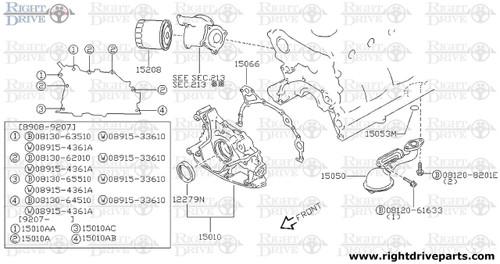 15010AC - bolt - BNR32 Nissan Skyline GT-R