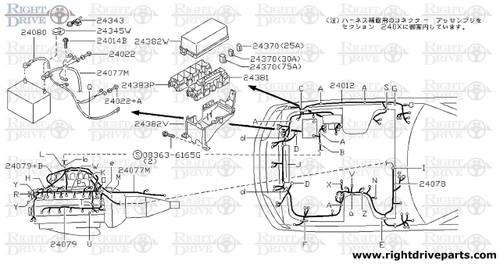24200c clip wiring harness bnr32 nissan skyline gt r rh rightdriveparts com Wiring Specialties SR20DET Wiring Specialties SR20DET