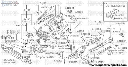 14952 - bracket, canister - BNR32 Nissan Skyline GT-R