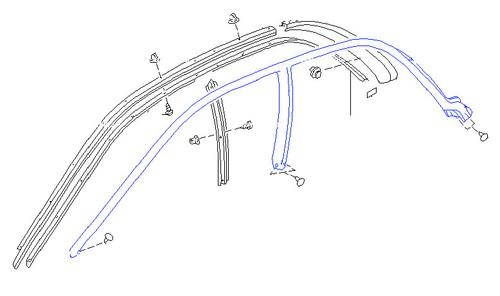 Weatherstrip - Door Glass, Front - GC8 Subaru Impreza WRX STI