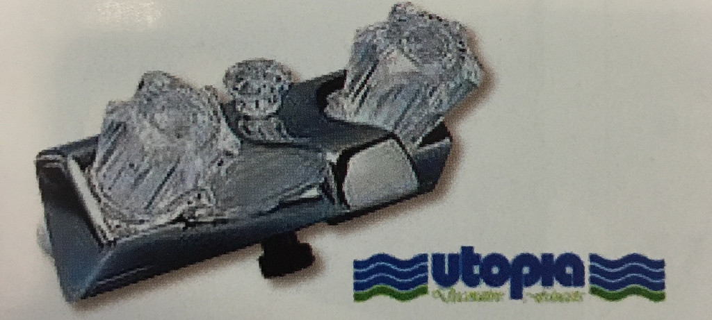 """Utopia 4"""" Tub/Shower Chrome Faucet with Exposed Shower"""