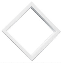 "10"" x 10"" White Diamond Exterior Door Window"