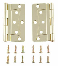 Interior Butterfly Brass Hinge Set with Screws.