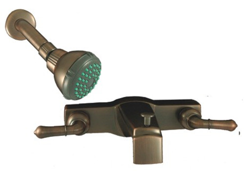 "Empire 8"" Oil Rubbed Bronze Tub & Shower Faucet with Lever Handles"