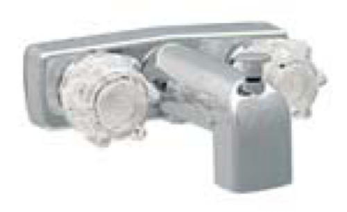 "Empire 4"" Chrome Tub & Shower Faucet"