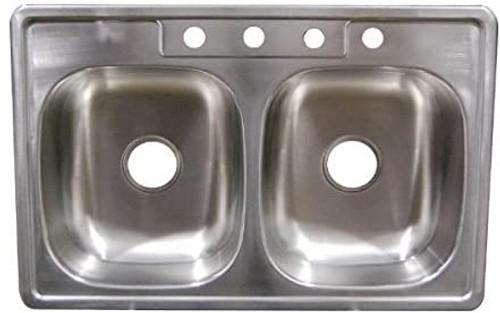 "33"" x 19"" x 6"" Deep Stainless Steel Sink"