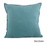 Fringed Design Down Filled Linen Throw Pillow