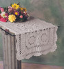 Handmade Crochet Lace Cotton Table Runner, White