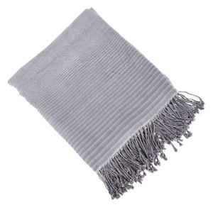 "Fennco Styles Unique Striped Lightweight Design Bamboo Throw Blanket-50""x60"""