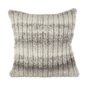 "Fennco Styles Hand Cable Knit Design Accent Cushion Wool Down Filled Home Decorative Throw Pillow 18"" Square"